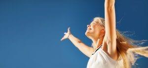 woman embracing life resize